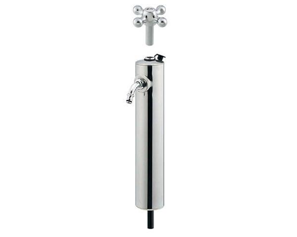 共用ステンレス水栓柱(ショート型) 624-082【カクダイ】
