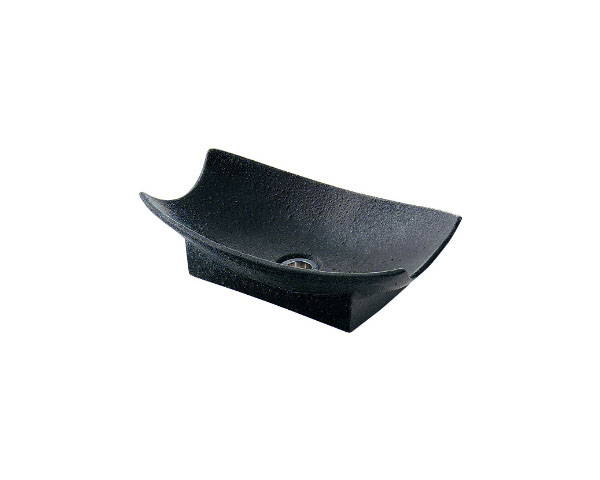 舟型手水鉢(藍錆) 624-932【カクダイ】