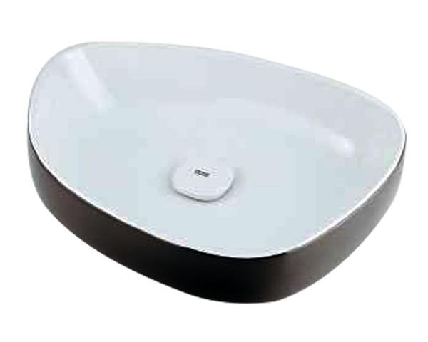 #LY-493210WD 洗面器//ホワイト/ブラック【カクダイ】