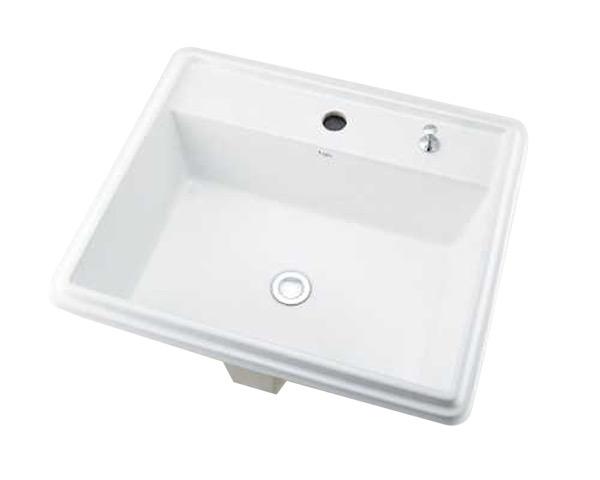 角型洗面器1ホール・ポップアップ独立つまみタイプ【カクダイ】, サインモール:d116b729 --- sunward.msk.ru