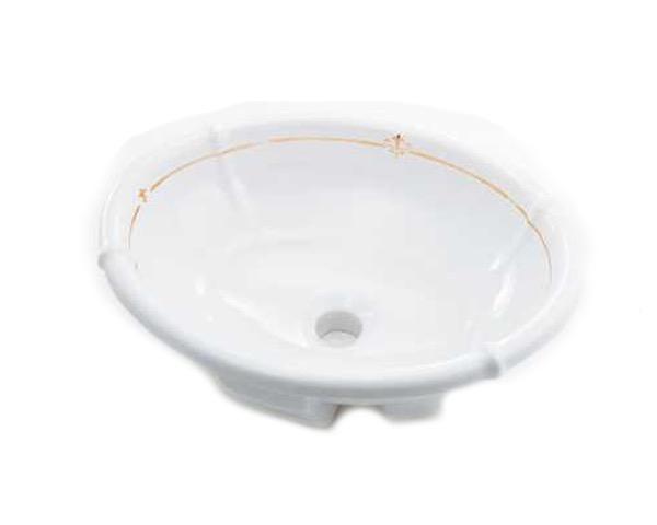 #LY-493209-G 丸型洗面器【カクダイ】