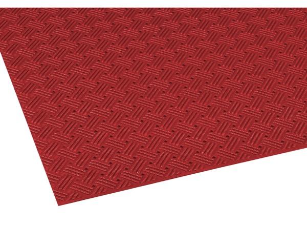 MR1590002 ダイヤマットグリッド赤920mm×10m約3.2mm【テラモト】