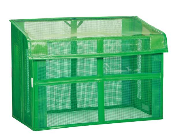 DS2611121 自立ゴミ枠折りたたみ式緑【テラモト】