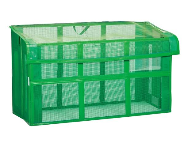 DS2611151 自立ゴミ枠折りたたみ式緑【テラモト】