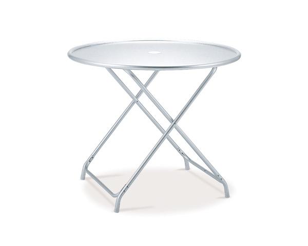 MZ6101200 ガーデンアルミテーブル(折畳式)φ900×H700mm【テラモト】