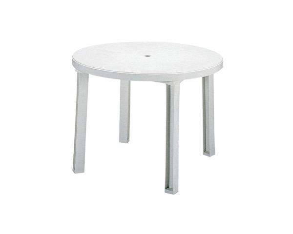 MZ5952018 ガーデンサンテーブルホワイト約φ1000×H720mm【テラモト】