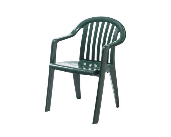 MZ5953521 ガーデンフィジーアームチェアグリーン560×600×800mm【テラモト】