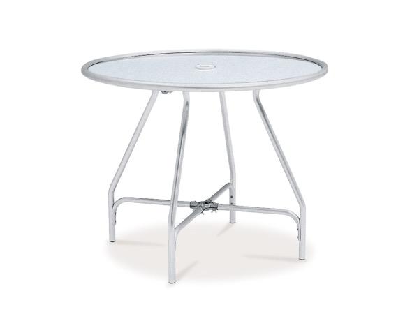 MZ6100100 ガーデンアルミテーブル(組立式)φ750×H700mm【テラモト】