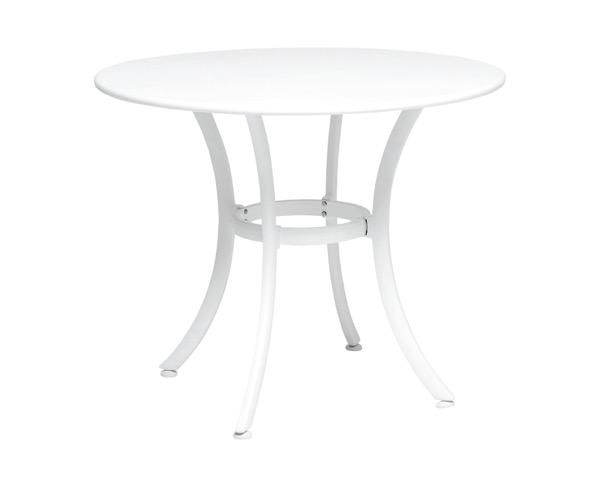 MZ5940098 ガーデンテーブル900ホワイトφ900×H730mm【テラモト】