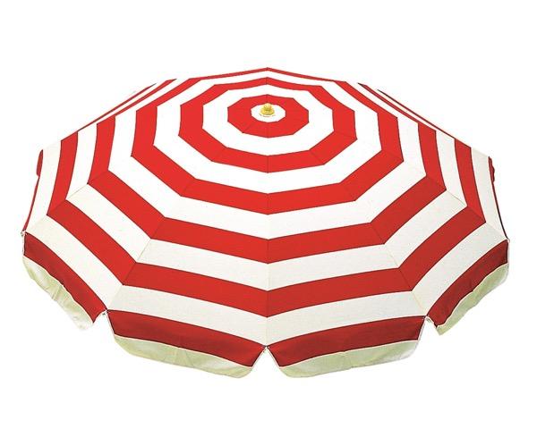 MZ5913197 ガーデンパラソル319赤白1850mm【テラモト】