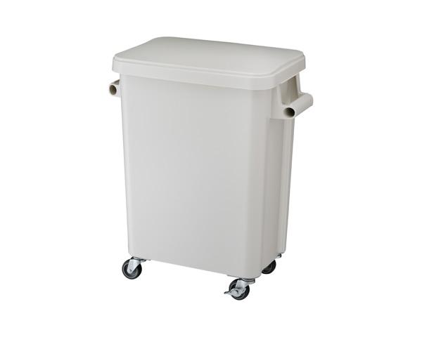 DS2606456 厨房用キャスターペール排水栓付45Lグレー【テラモト】