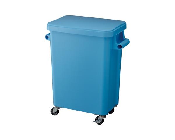 DS2606453 厨房用キャスターペール排水栓付45Lブルー【テラモト】