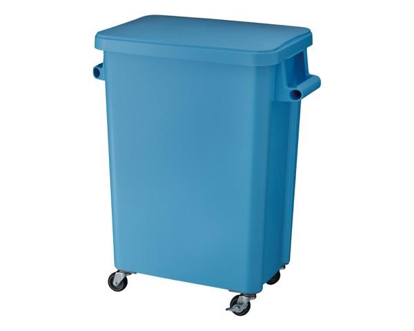 DS2606703 厨房用キャスターペール排水栓付70Lブルー【テラモト】