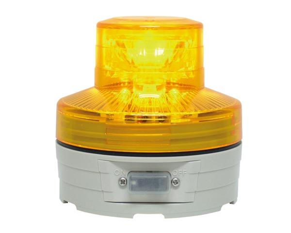 OT5570006 ポールLED回転灯(電池式)黄約φ76×H75mm【テラモト】