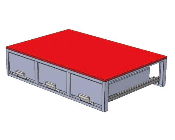 SCT-F06 システムキャビネット 3列引出(1150×780)【ジェフコム】
