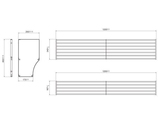 パイプ棚Sタイプ2段 幅120PS2-120【田窪工業所】