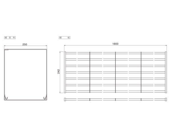 パイプ棚Aタイプ1段 幅180PA1-180【田窪工業所】