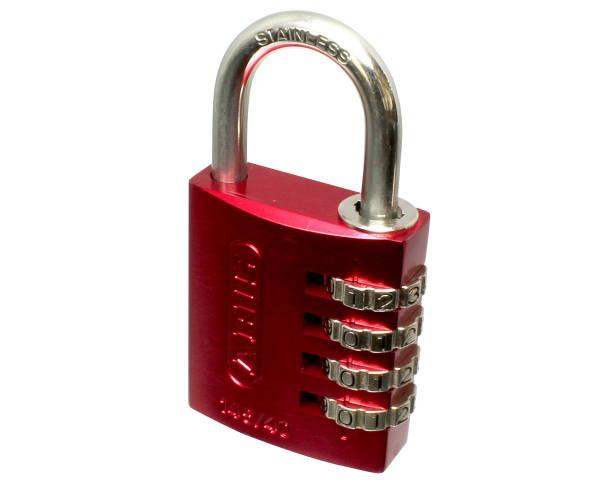南京錠・符号錠・ダイヤル錠シリーズ 145IB/40 ABUSナンバー可変式南京錠 レッド