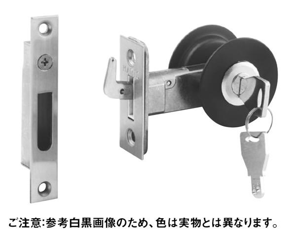 A-106 チューブラ引戸鎌錠シルバー ディンプルS B/S38【丸喜金属本社】