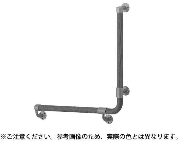 BR-517R L形丸棒手摺(右)600×600 SL/Lオーク【シロクマ】
