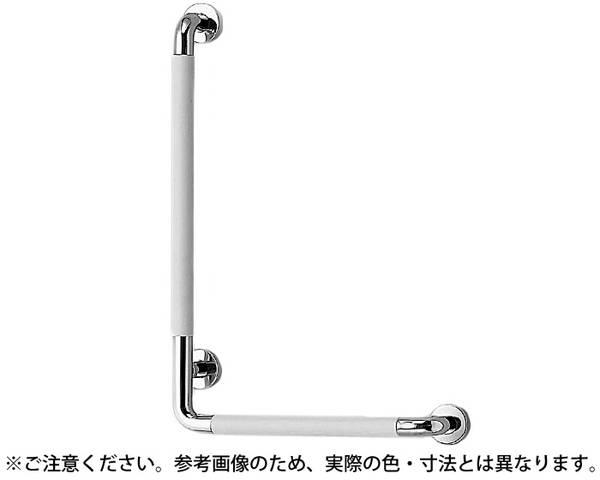 NO-801L L形パッドニギリバー(左)クローム/グレー【シロクマ】