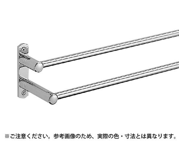 BT-50 ルピナス二段タオル掛400ミリクローム【シロクマ】