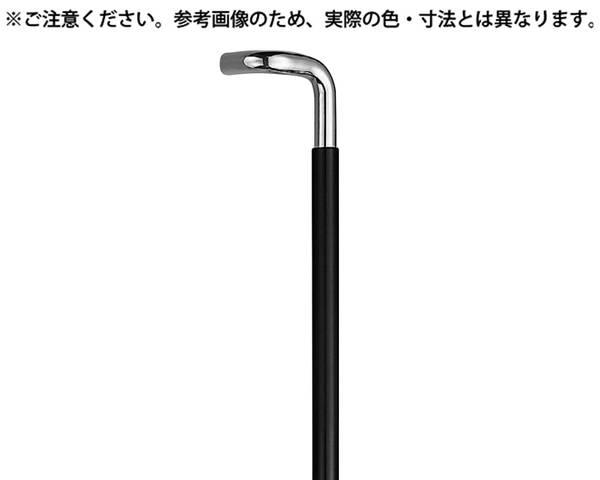 NO-254L L型丸棒取手大クローム/黒ウッド【シロクマ】