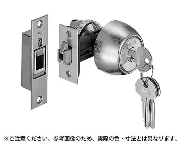 372-05 チューブラ鎌錠(玄関)ブラック【シロクマ】