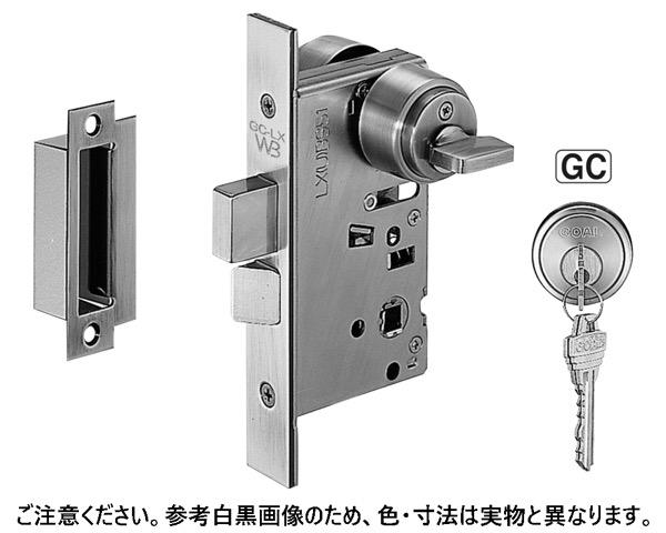 LX-5 GC玄関錠(LX5)BS51ブラック【シロクマ】