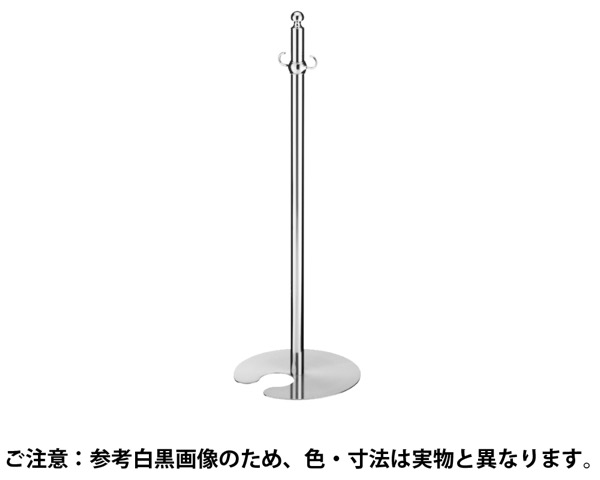 FPP-0210 フロアパーティションポールスタッキング CR/HL【シロクマ】