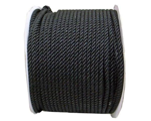 綿ロープ 8ミリ (黒) 200M ドラム巻