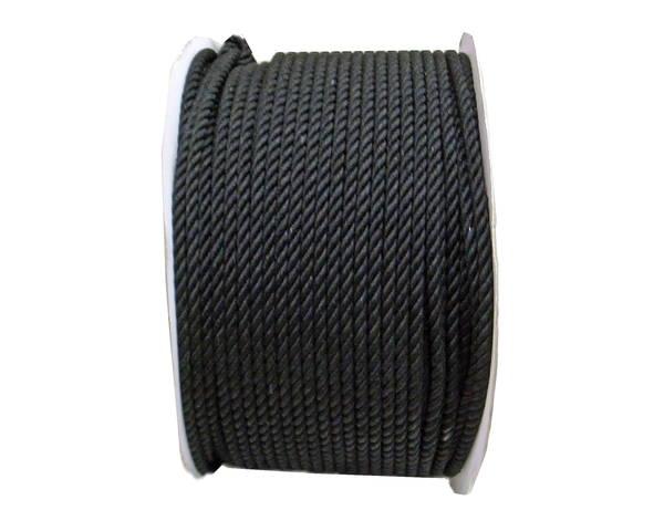 綿ロープ 9ミリ (黒) 200M ドラム巻
