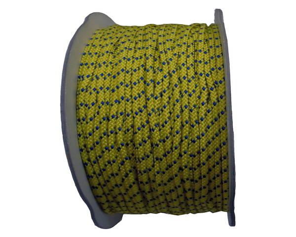 PPカラー8打コード 6ミリ(黄青) 200M ドラム巻