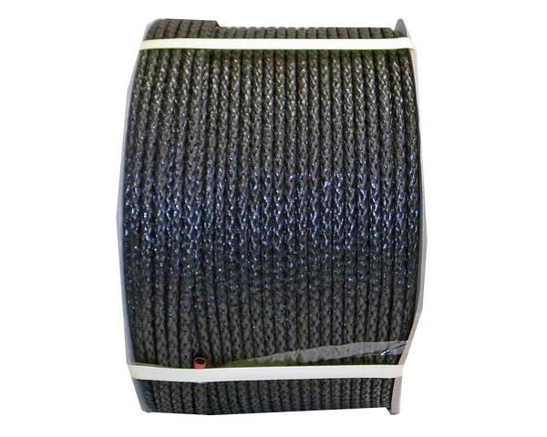 PEフィルム8打(ひも) 約8ミリ (黒) 300M ドラム巻