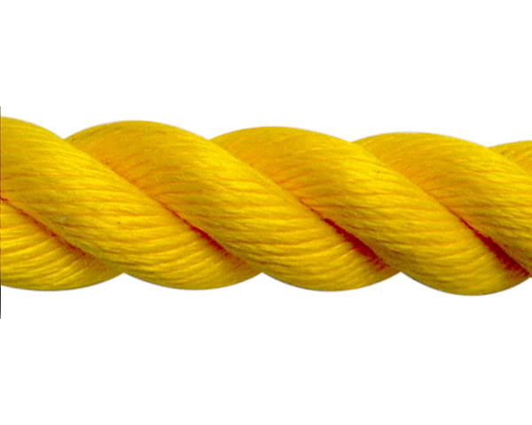 スパンシーカラーロープ30ミリ(黄) 30M ドラム巻 PPスパン
