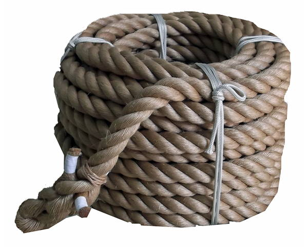 綱引きロープ(麻) 太さ36ミリ径X約50m
