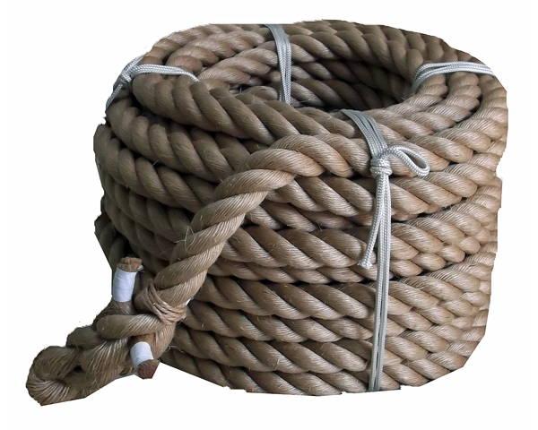 綱引きロープ(麻) 太さ45ミリ径X約30m