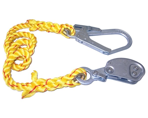 水平親綱設置用緊張器本体(フック付ロープ連結型【まつうら工業】