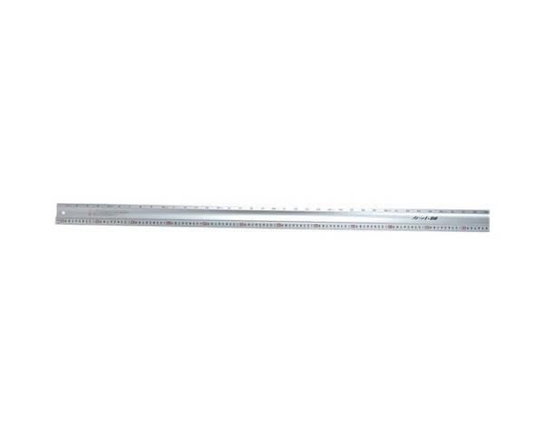 大工道具 測定具の直尺65091 裁断作業に役立つプロ向カッター定規 シンワ 65091 カット師2MW左基点 藤原産業 オンラインショッピング マーケット