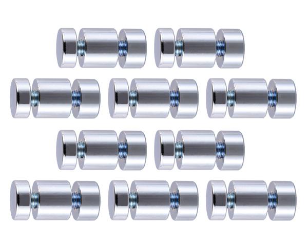 飾りビス TB-4-5 2プレート (真鍮) クローム 19×7×16×10