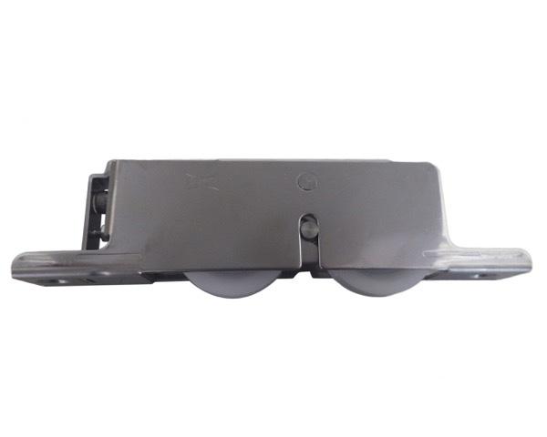 2連式重量横調整戸車ステン枠 ジュラコン 50 丸【4個入】 TESWY501【ヨコヅナ】