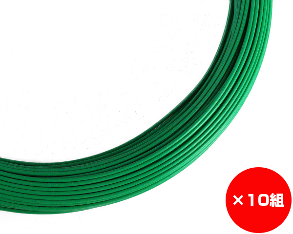 【まとめ買い10組】ビニール巻 線径約1.2×約180m #18 入数1巻(約1Kg)×10組