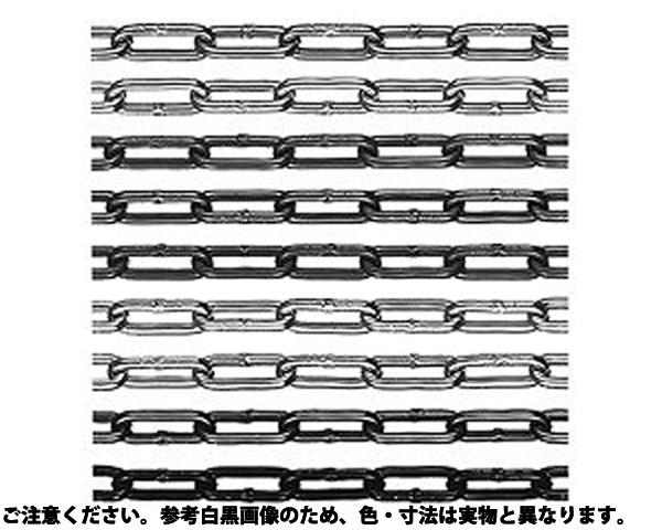 アルミカラーチェーン(30M 表面処理(塗装シルバー(銀色)) 材質(アルミ(AL)) 規格(AL-6C) 入数(1)