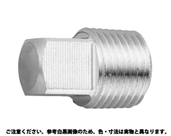 "SUSプラグ(4カクアタマ 材質(ステンレス) 規格(PT1"") 入数(30)"