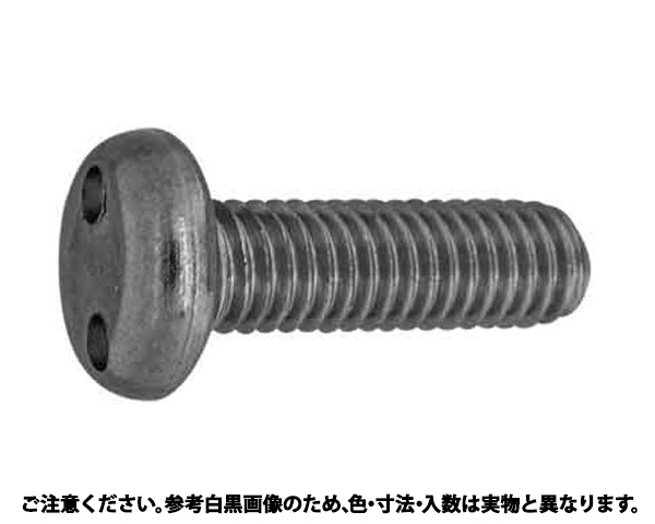 SUS ツーホール・ナベコ 表面処理(ナイロック(泰洋産工、阪神ネジ) ) 材質(ステンレス(SUS304、XM7等)) 規格( 3 X 16) 入数(100)