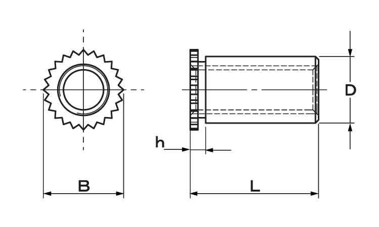 SUSセルスペーサー(ホソケイ材質(ステンレス)規格(DFSB-M4-7)入数(1000)