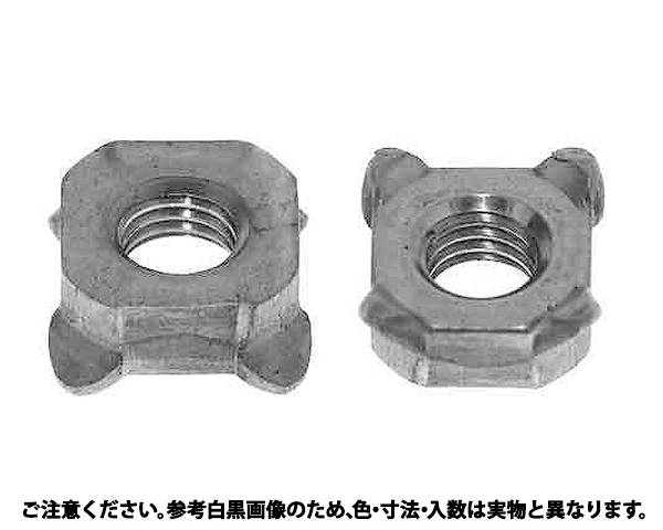 4カクウエルドセンターロックN 材質(ステンレス) 規格(M4(8X3.2) 入数(2000)