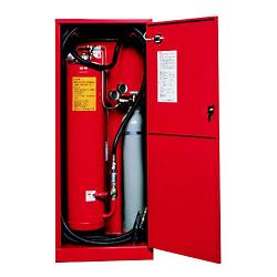 ハツタ HDA-100A 移動式 粉末消火設備 ※リサイクルシール付