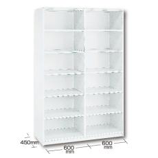 【業務用】クリーニング収納棚 ユニット6 W 衣類の保管に ユニット【業務用・引越し・衣替え・整理・整頓】【衣類収納・クリーニング】【送料無料】