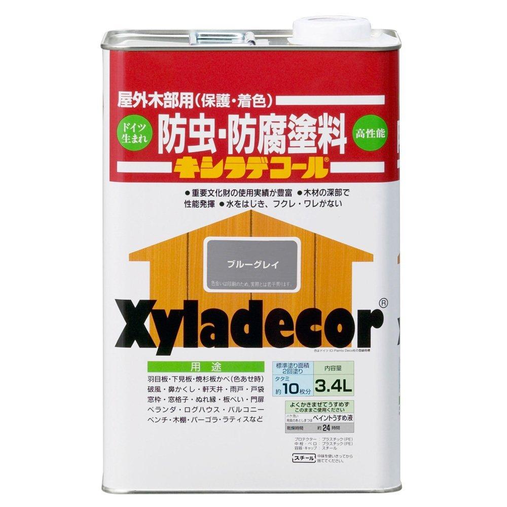 エンバイロ キシラデコール  3.4L シルバグレイ【D】【UN】【送料無料】